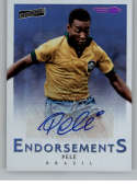 2016-17 Panini Aficionado Endorsements Artist's Proof Purple Soccer #50 Pele Auto Autograph SER/30 Brazil  Official Futbol Trading Card
