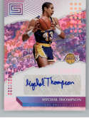 2018-19 Status Elite Signatures Basketball #24 Mychal Thompson Auto Autograph Los Angeles Lakers  Official Autograph trading card from Panini