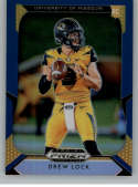 2019 Prizm Draft Picks Prizms Blue Football #110 Drew Lock Missouri Tigers  Official NCAA Trading Card From Panini