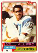 1981 Topps Football #150 Kellen Winslow RC Rookie Card San Diego Chargers  Official NFL Trading Card in EX-MT or better Condtion