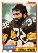 1981 Topps Football #220 Franco Harris Pittsburgh Steelers  Official NFL Trading Card in EX-MT or better Condtion