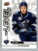 2018-19 Upper Deck CHL Top Level Talent Hockey #TL-10 Alexis Lafreniere Rimouski Oceanic  Official Canadian Hockey League Trading Card From UD