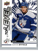 2018-19 Upper Deck CHL Top Level Talent Hockey #TL-15 Quinton Byfield Sudbury Wolves  Official Canadian Hockey League Trading Card From UD