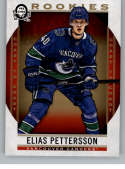 2018-19 O-Pee-Chee Coast to Coast Canadian Tire Hockey #160 Elias Pettersson RC Rookie Card SP Short Print Vancouver Can Official NHL Trading Card Fro