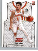 2018-19 Threads Basketball Rookie Card #103 Trae Young Atlanta Hawks  Official Retail Only Trading Card From Panini