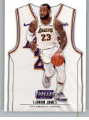 2018-19 Threads Association SP Basketball #135 LeBron James Los Angeles Lakers  Official Retail Only Trading Card From Panini
