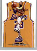 2018-19 Threads Icon SP Basketball #175 LeBron James Los Angeles Lakers  Official Retail Only Trading Card From Panini