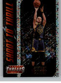 2018-19 Panini Threads Shoot to Thrill Dazzle Basketball #3 Stephen Curry Golden State Warriors  Official NBA Insert Parallel Card From Panini