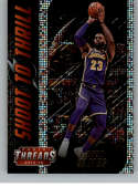 2018-19 Panini Threads Shoot to Thrill Dazzle Basketball #12 LeBron James Los Angeles Lakers  Official NBA Insert Parallel Card From Panini