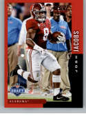 2019 Score NFL Draft Red Football #7 Josh Jacobs Alabama Crimson Tide  Official NFL Trading Card From Panini