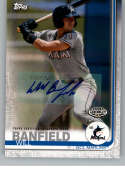 2019 Topps Pro Debut Autographs Baseball #181 Will Banfield Auto Autograph GCL Marlins  Official MiLB Trading Card From Topps