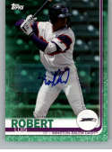 2019 Topps Pro Debut Autographs Green Baseball #102 Luis Robert Auto Autograph SER/99 Winston-Salem Dash  Official MiLB Trading Card From Topps