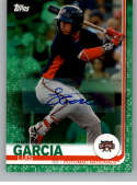 2019 Topps Pro Debut Autographs Green Baseball #124 Luis Garcia Auto Autograph SER/99 Potomac Nationals  Official MiLB Trading Card From Topps