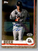 2019 Topps Pro Debut Autographs Gold Baseball #117 Seth Beer Auto Autograph SER/50 Tri-City ValleyCats  Official MiLB Trading Card From Topps