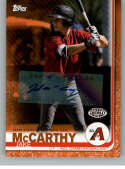 2019 Topps Pro Debut Autographs Orange Baseball #18 Jake McCarthy Auto Autograph SER/25 AZL Diamondbacks  Official MiLB Trading Card From Topps