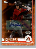 2019 Topps Pro Debut Autographs Orange Baseball #29 Alek Thomas Auto Autograph SER/25 AZL Diamondbacks  Official MiLB Trading Card From Topps
