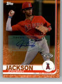 2019 Topps Pro Debut Autographs Orange Baseball #99 Jeremiah Jackson Auto Autograph SER/25 AZL Angels  Official MiLB Trading Card From Topps