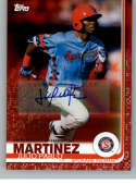 2019 Topps Pro Debut Autographs Red Baseball #169 Julio Pablo Martinez Auto Autograph SER/10 Spokane Indians  Official MiLB Trading Card From Topps