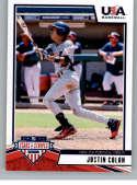 2019 Panini Stars and Stripes Hobby Baseball #56 Justin Colon USA Baseball 15U National Team Official USA Trading Card
