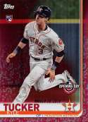 2019 Topps Opening Day Red Foil Baseball #18 Kyle Tucker Houston Astros Official MLB Trading Card