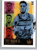 2018-19 Court Kings Basketball #192 Troy Brown Jr. Washington Wizards Rookies III  Official NBA Trading Card By Panini