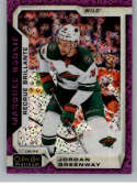 2018-19 O-Pee-Chee Platinum Violet Pixles Hockey #161 Jordan Greenway Minnesota Wild Official NHL Trading Card From Uppe