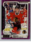 2018-19 O-Pee-Chee Platinum Violet Pixles Hockey #162 Henri Jokiharju Chicago Blackhawks Official NHL Trading Card From