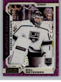 2018-19 O-Pee-Chee Platinum Violet Pixles Hockey #169 Cal Petersen Los Angeles Kings Official NHL Trading Card From Uppe
