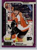 2018-19 O-Pee-Chee Platinum Violet Pixles Hockey #171 Oskar Lindblom Philadelphia Flyers Official NHL Trading Card From