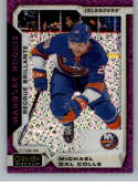 2018-19 O-Pee-Chee Platinum Violet Pixles Hockey #192 Michael Dal Colle New York Islanders Official NHL Trading Card Fro
