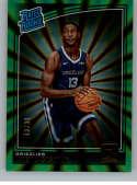 2018-19 Donruss Holo Green Laser Basketball #188 Jaren Jackson Jr. SER/99 Memphis Grizzlies Rated Rookie Official NBA Tr
