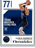 2018-19 Chronicles Basketball #71 Luka Doncic Dallas Mavericks Official NBA Trading Card From Panini America Rookie Card