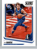 2018-19 Chronicles Score Basketball #681 Luka Doncic Dallas Mavericks Official NBA Trading Card From Panini America Rook