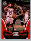 2018-19 Certified Mirror Red Basketball #6 Giannis Antetokounmpo SER/299 Milwaukee Bucks Official NBA Trading Card From