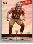2019 Prestige Xtra Points Blue Football #211 Nick Bosa SER/299 San Francisco 49ers Official NFL Trading Card From Panini