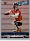 2019 Prestige Xtra Points Blue Football #268 Gardner Minshew II SER/299 Jacksonville Jaguars Official NFL Trading Card F