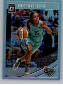 2019 Donruss WNBA Optic Holo Silver Prizm Basketball #53 Brittany Boyd New York Liberty Official WNBA Trading Card From