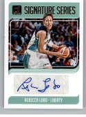 2019 Donruss WNBA Signature Series Basketball #1 Rebecca Lobo Auto Autograph New York Liberty Official WNBA Trading Card