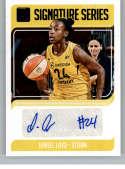 2019 Donruss WNBA Signature Series Press Proof Purple Basketball #17 Jewell Loyd Auto Autograph SER/99 Seattle Storm Off