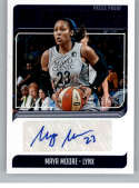 2019 Donruss WNBA Signature Series Press Proof Purple Basketball #21 Maya Moore Auto Autograph SER/49 Minnesota Lynx Off