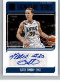 2019 Donruss WNBA Signature Series Press Proof Purple Basketball #37 Katie Smith Auto Autograph SER/99 Minnesota Lynx Of