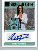 2019 Donruss WNBA Signature Series Press Proof Purple Basketball #41 Asia Durr Auto Autograph SER/99 New York Liberty Of