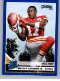 2019 Donruss Press Proof Blue Football #325 Mecole Hardman Jr. Kansas City Chiefs Official NFL Trading Card From Panini
