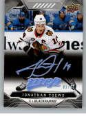 2019-20 Upper Deck MVP Super Script Hockey #68 Jonathan Toews SER/25 Chicago Blackhawks Official NHL Trading Card from U