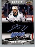 2019-20 Upper Deck MVP Super Script Hockey #225 Jacob Middleton SER/25 San Jose Sharks Official NHL Trading Card from UD
