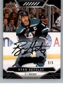 2019-20 Upper Deck MVP Super Script Black Hockey #167 Ryan Getzlaf SER/5 Anaheim Ducks Official NHL Trading Card from UD