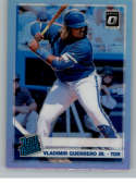 2019 Donruss Optic Silver Holo Prizm Baseball #64 Vladimir Guerrero Jr. Toronto Blue Jays Rated Rookie Official MLBPA Tr