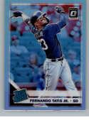 2019 Donruss Optic Silver Holo Prizm Baseball #84 Fernando Tatis Jr. San Diego Padres Rated Rookie Official MLBPA Tradin