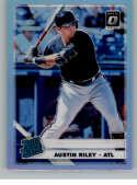 2019 Donruss Optic Silver Holo Prizm Baseball #95 Austin Riley Atlanta Braves Rated Rookie Official MLBPA Trading Card F