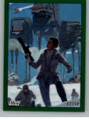 2019 Topps Chrome Star Wars Legacy Marvel Comic Book Covers Refractors Green NonSport #MC-9 Princess Leia SER/50 Officia
